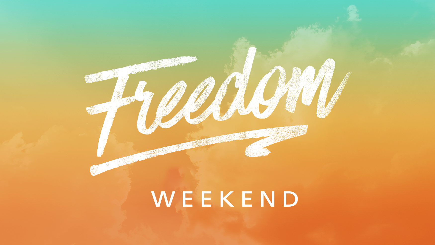 Freedom weekend event graphic