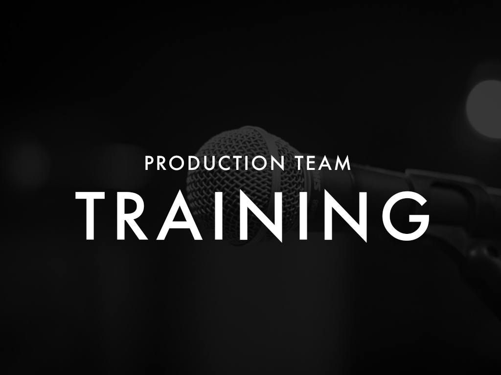 Training production team
