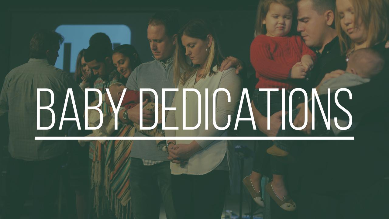 Baby dedications blank