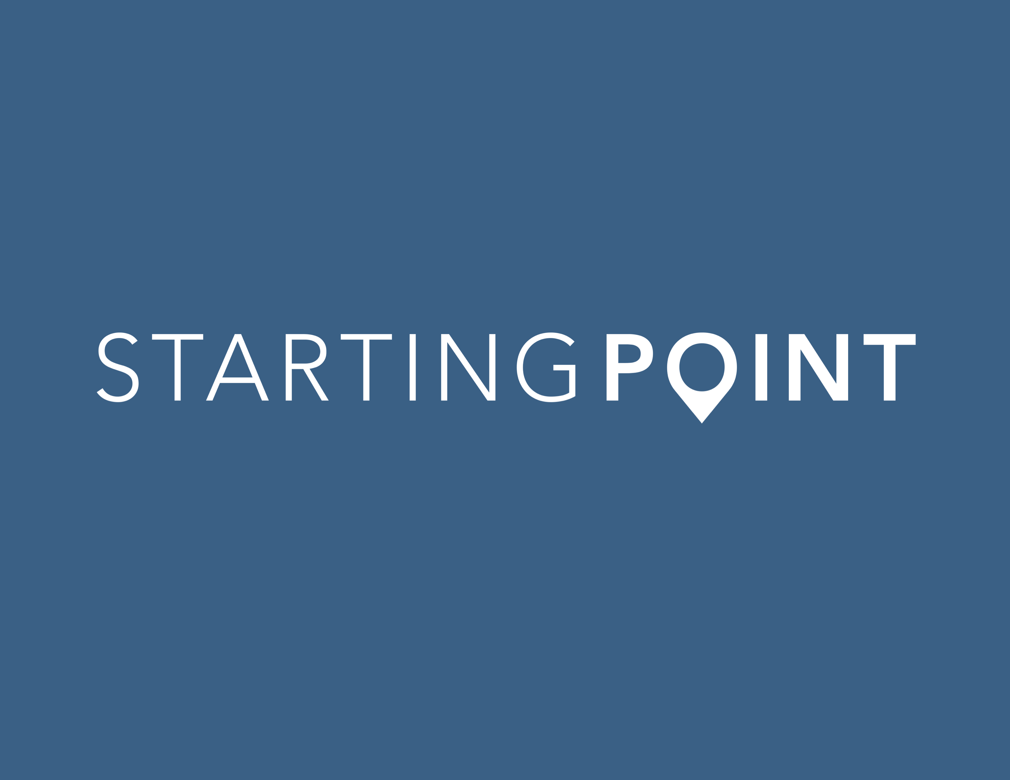 Starting point tv sign
