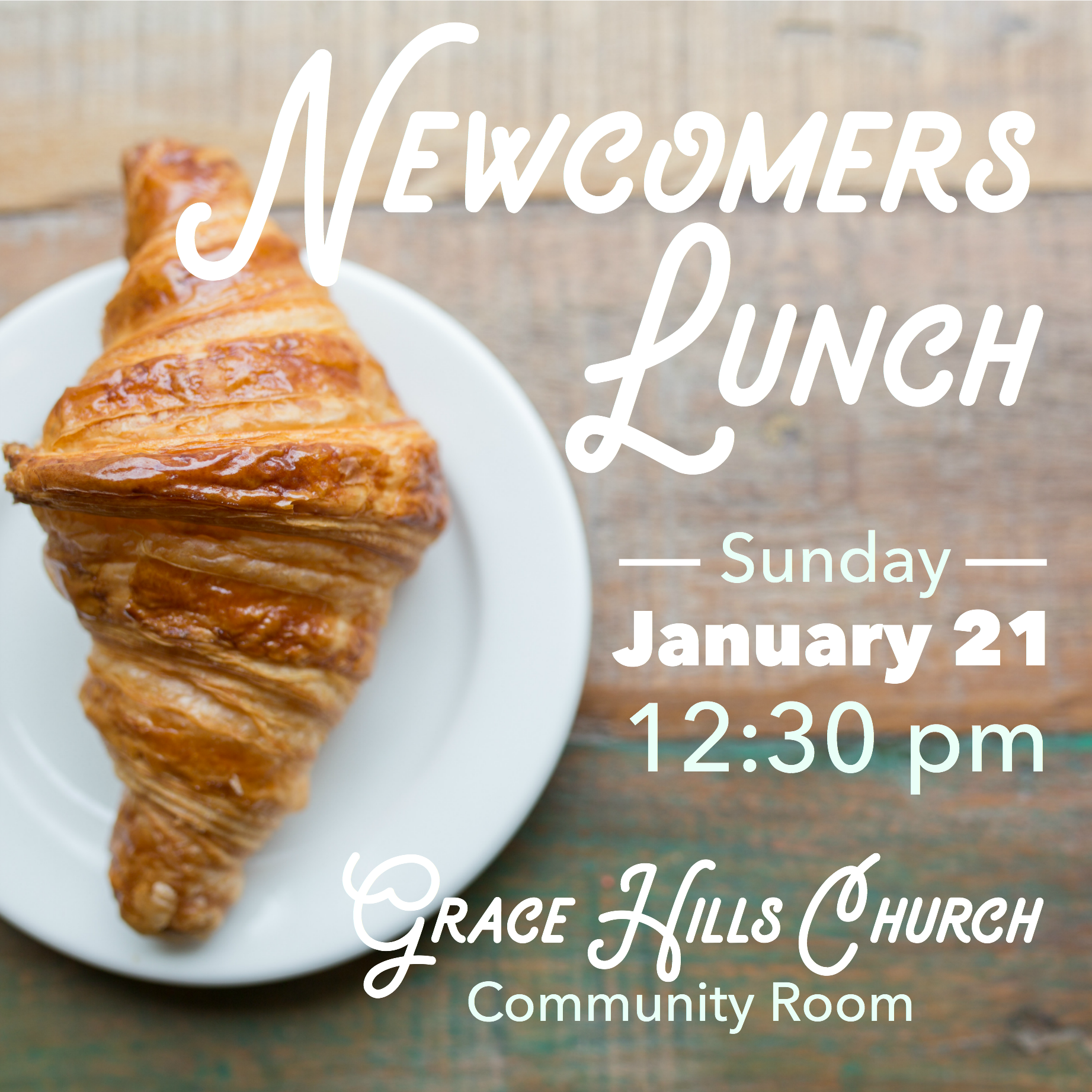 Newcomers lunch jan 21
