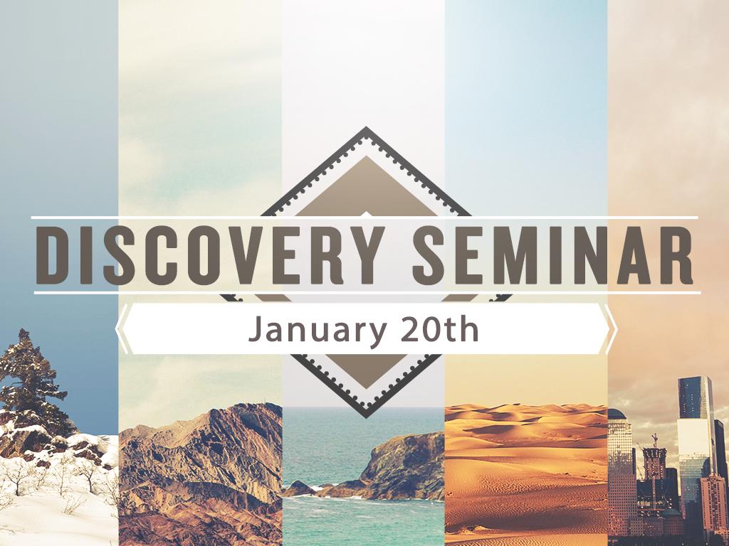 Discovery seminar planningcenter