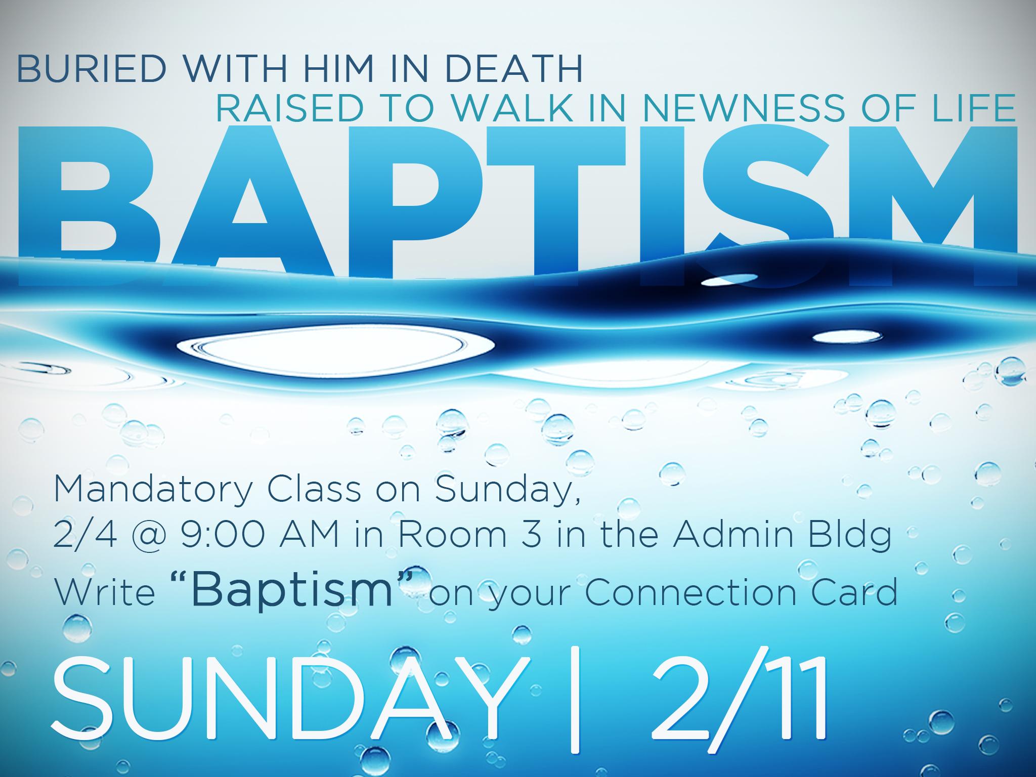 Baptisms   2 11 2018