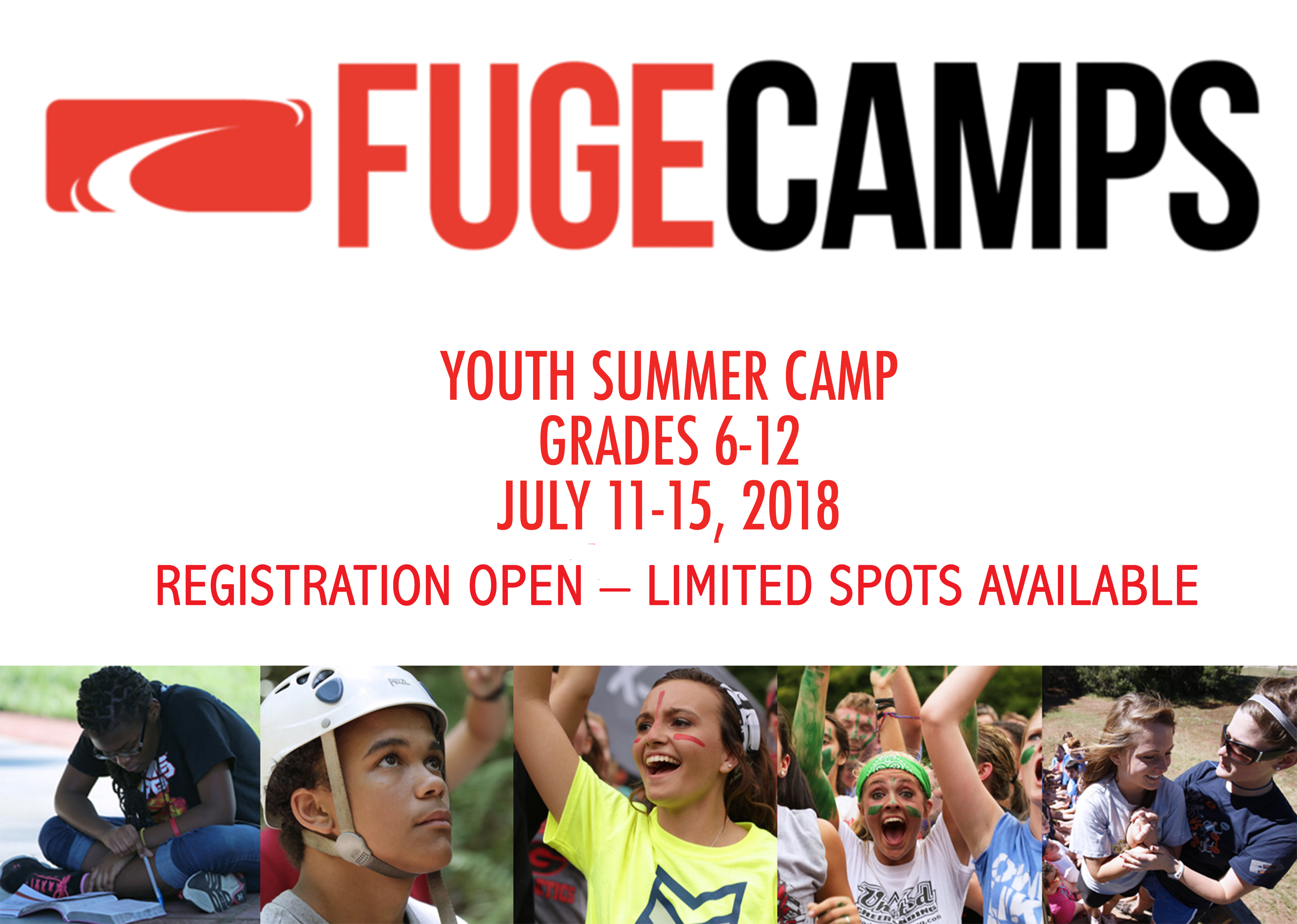 2018 fuge camp registration open