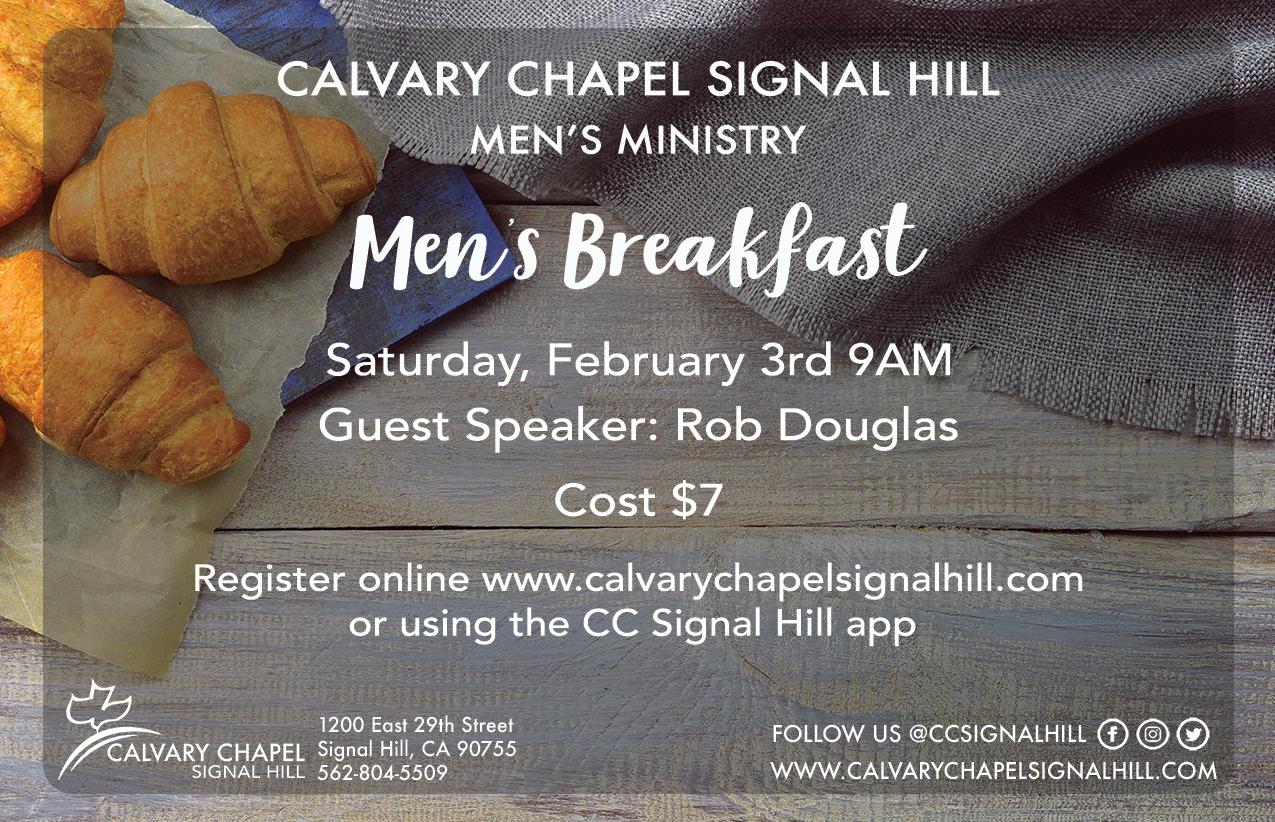 Men s breakfast flyer insert