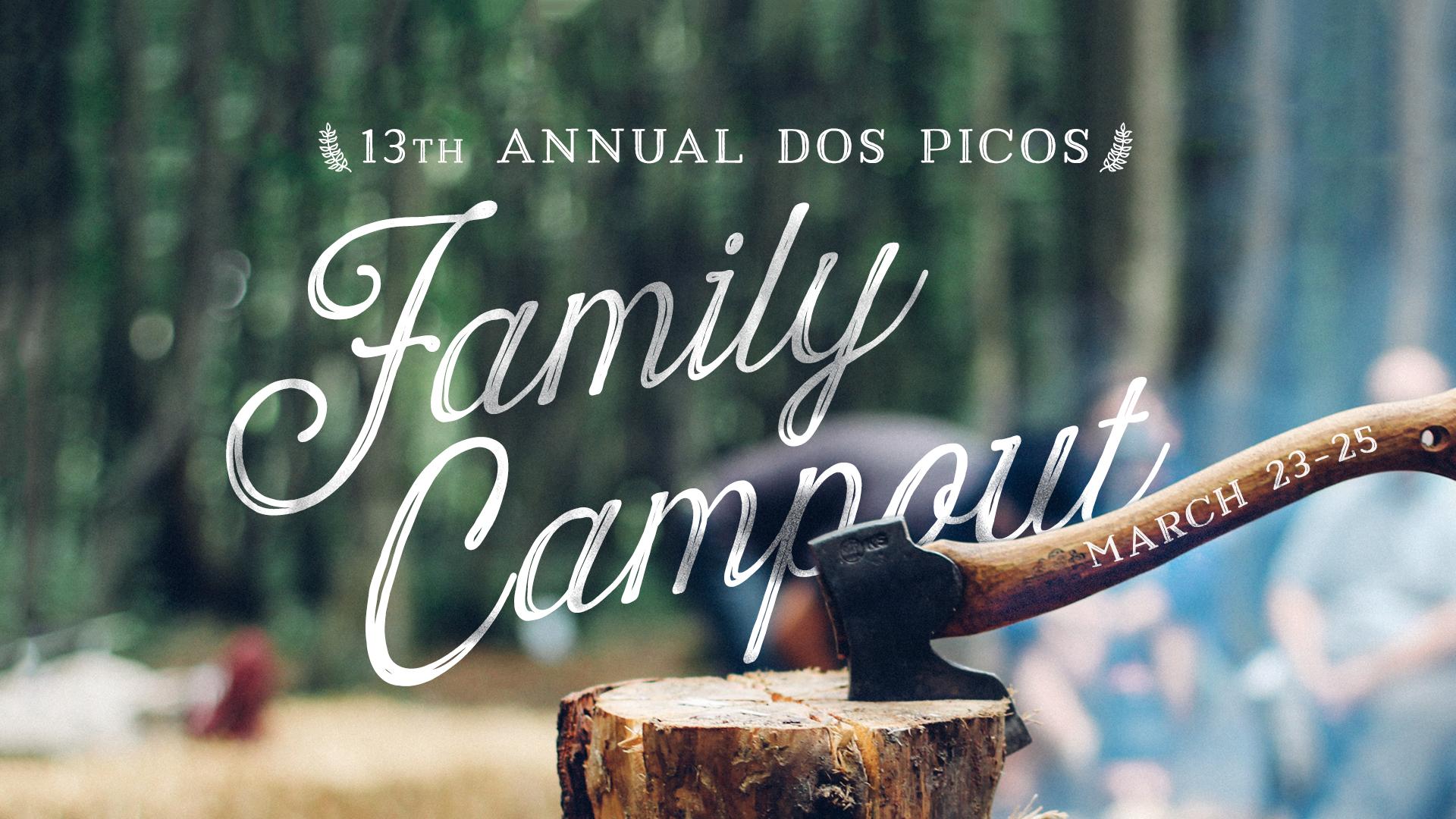 Family campout slide