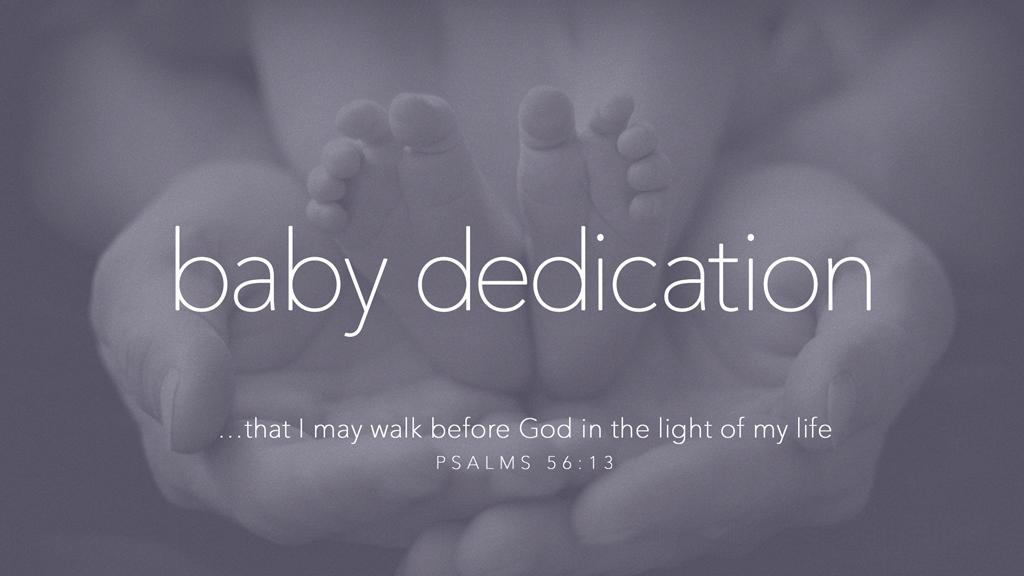 Baby dedication pco