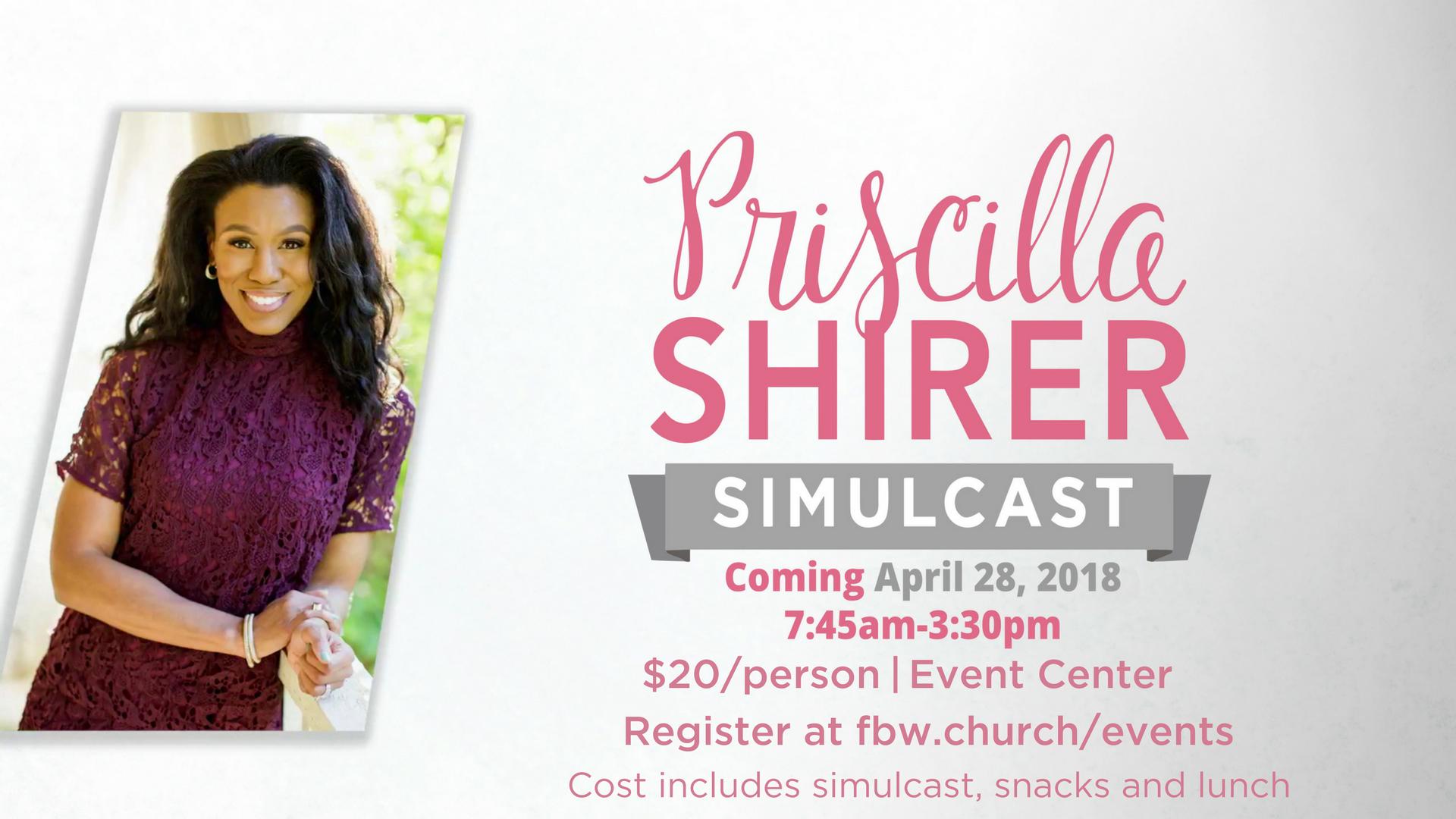 Priscilla shirer simulcast slide