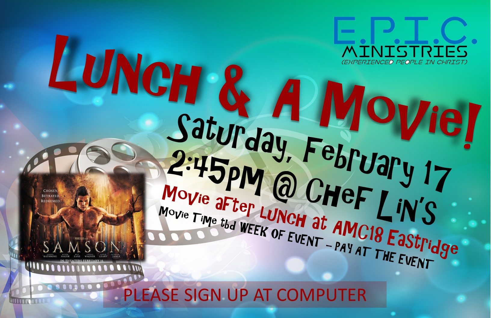 Epic lunch   a movie poster