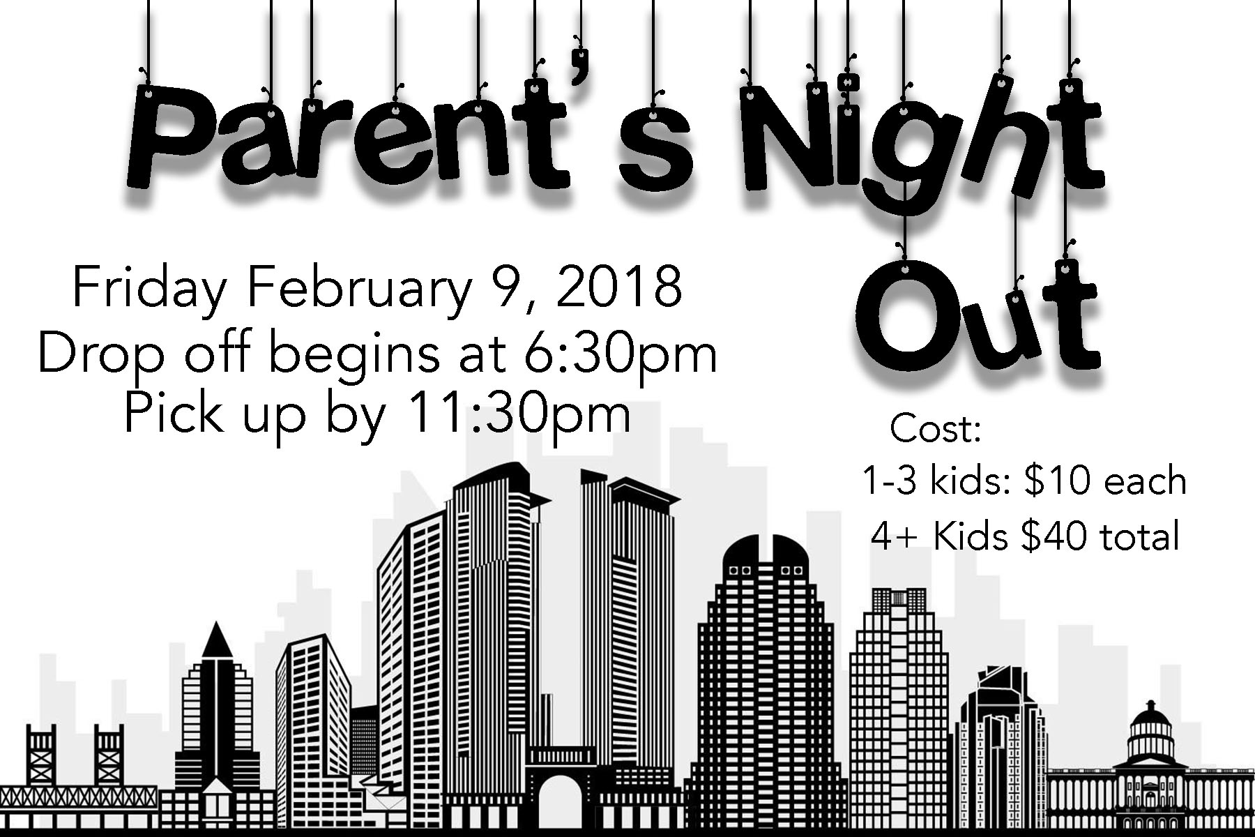 Parents night out use this