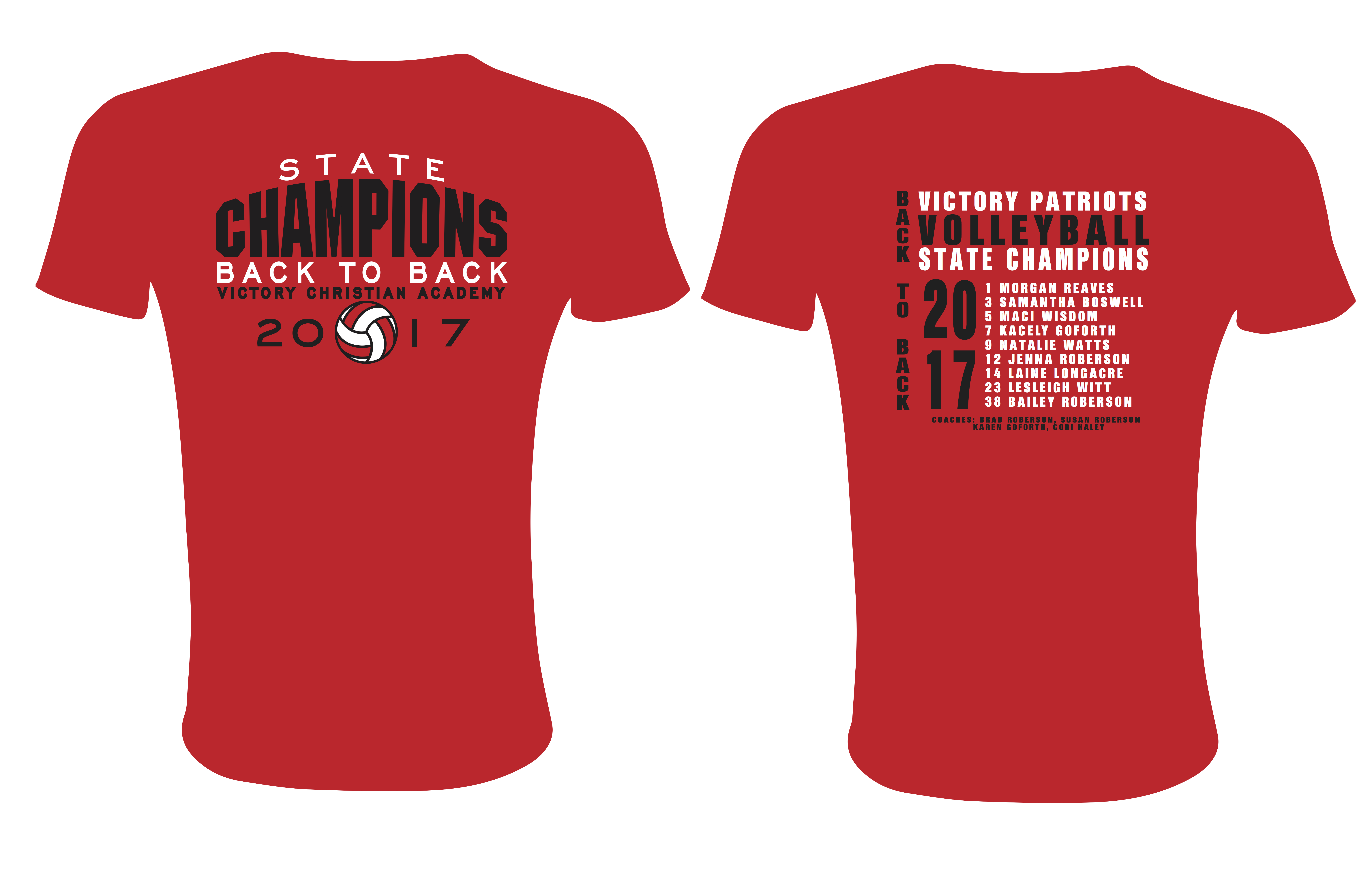 2017 volleyball state champ sp tee