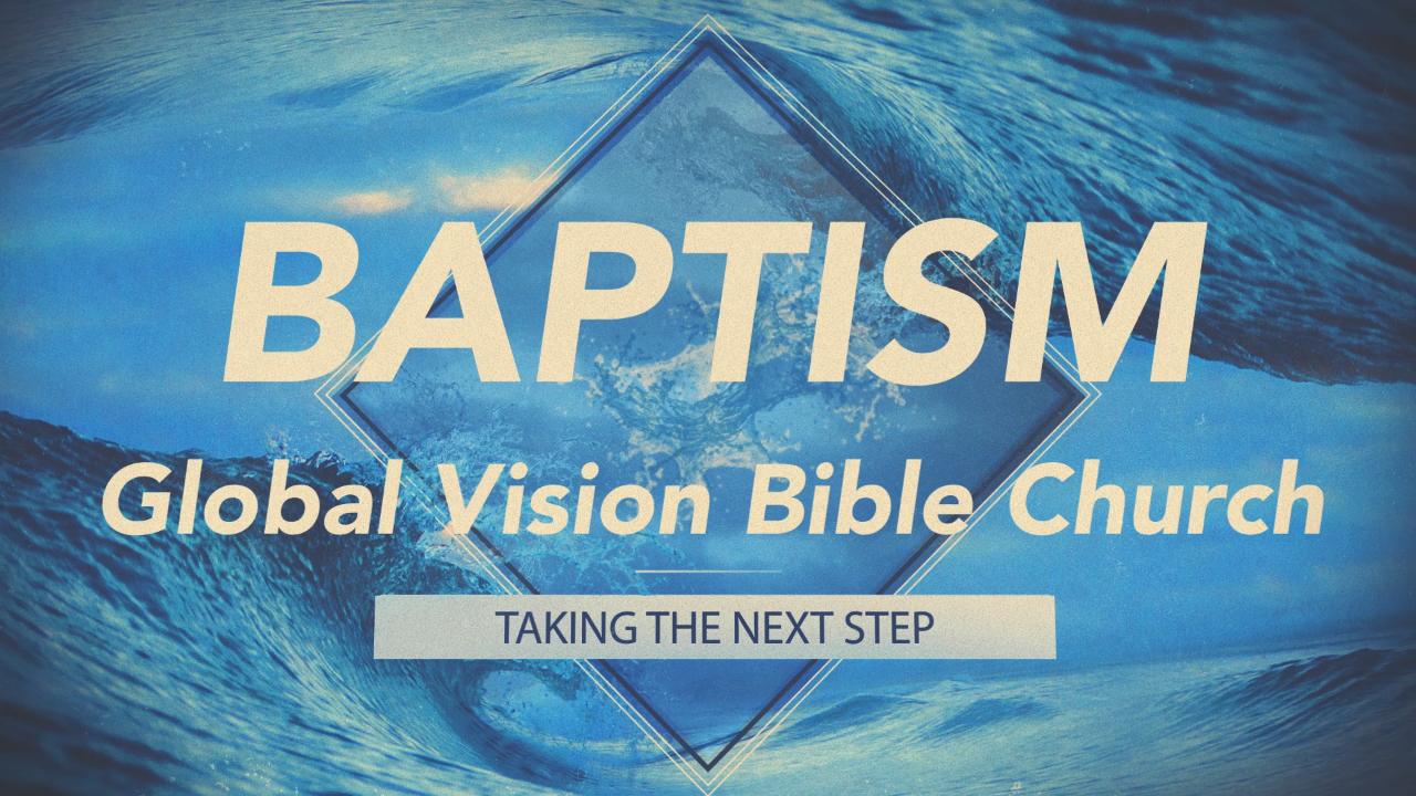 Baptism still