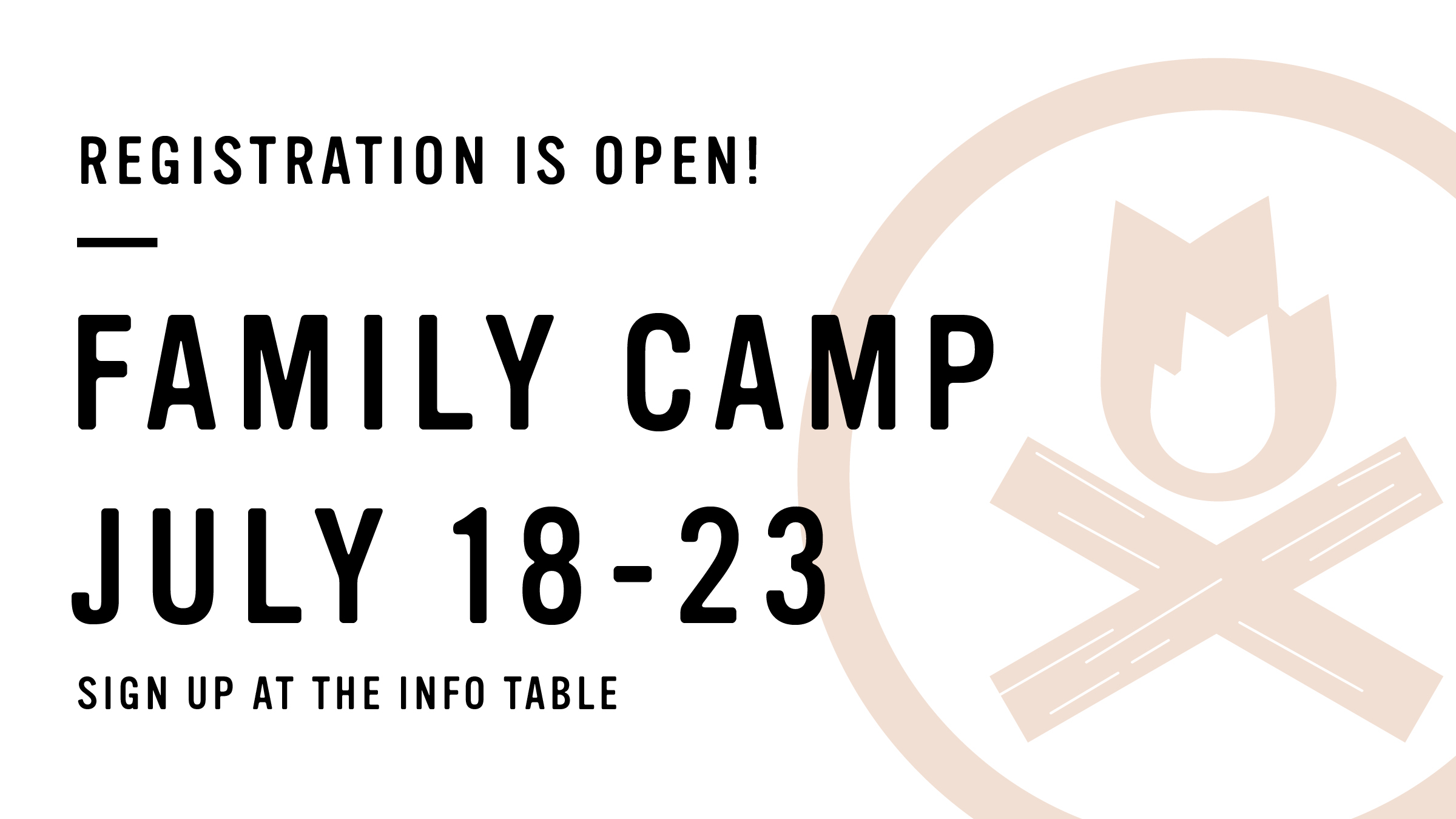 Family camp open
