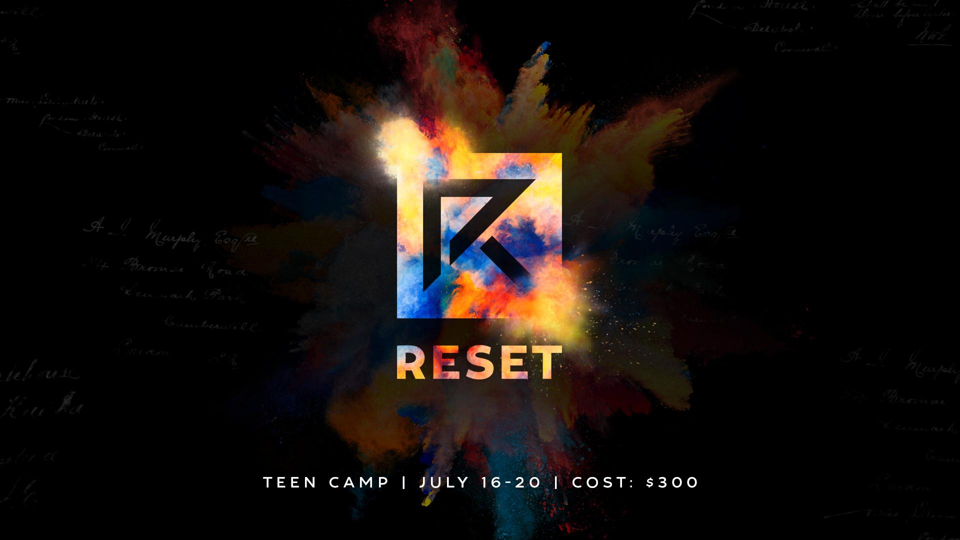 Reset18 screen