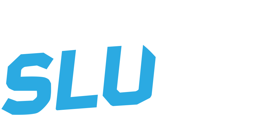 Logo slu blue white