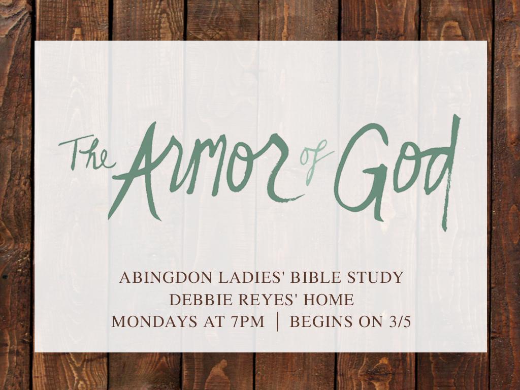 Abingdon ladies  bible study 2018 registration