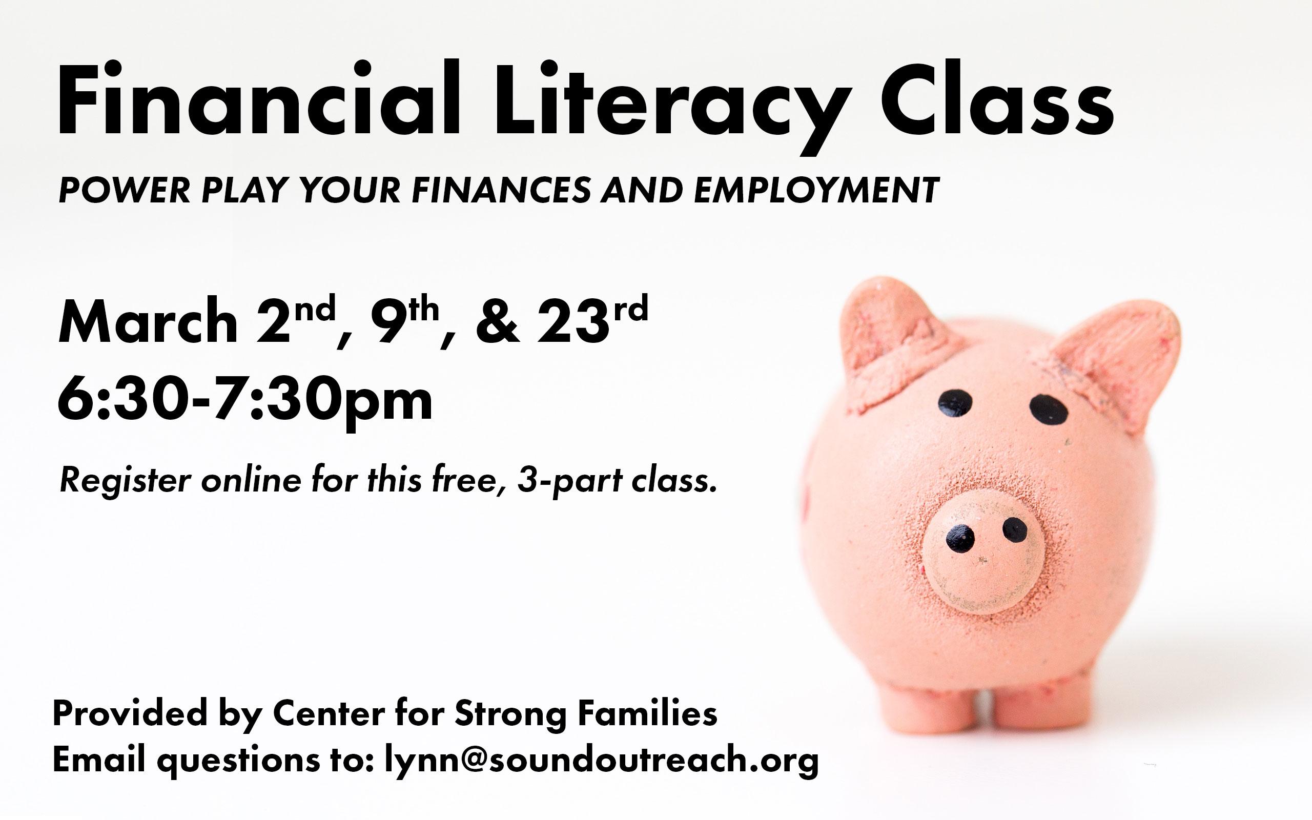 Financial literacy class screen