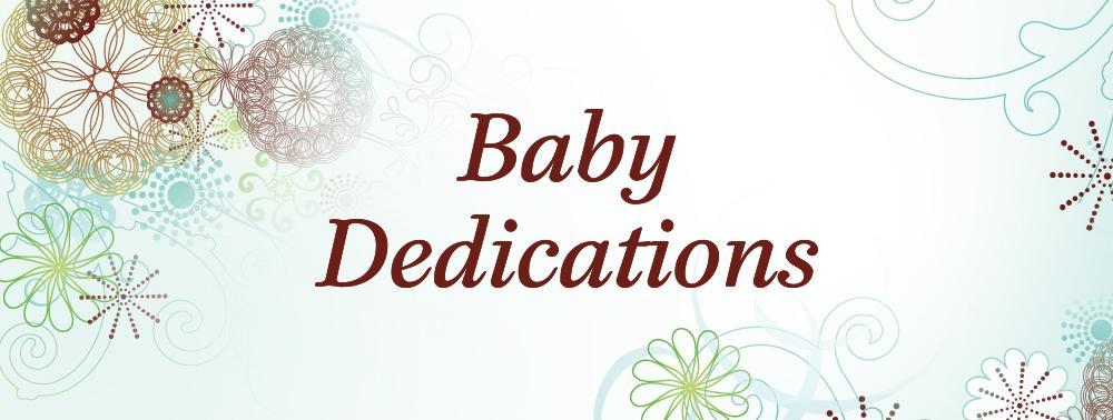 Baby dedication image