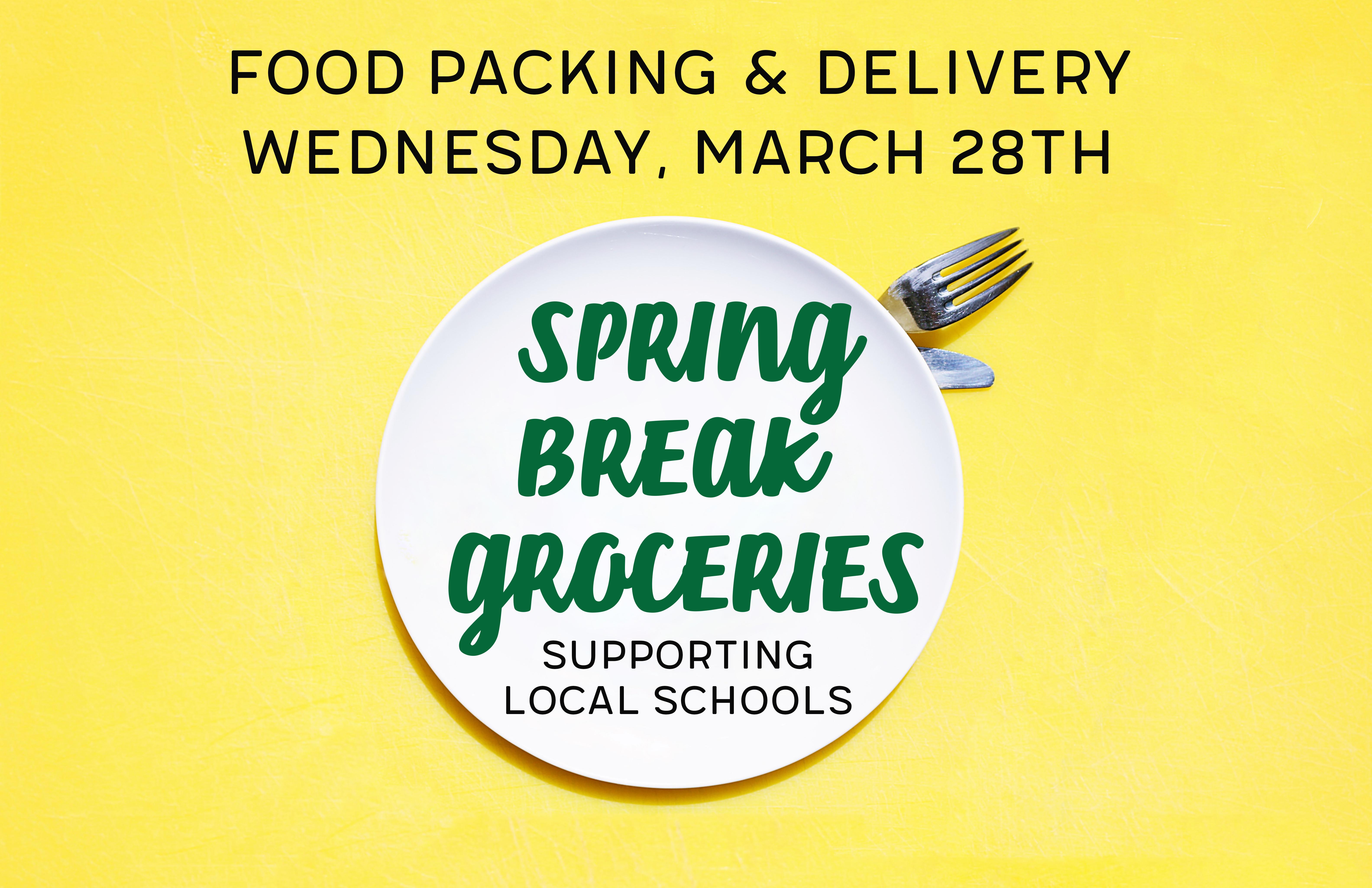 Spring break groceries slide