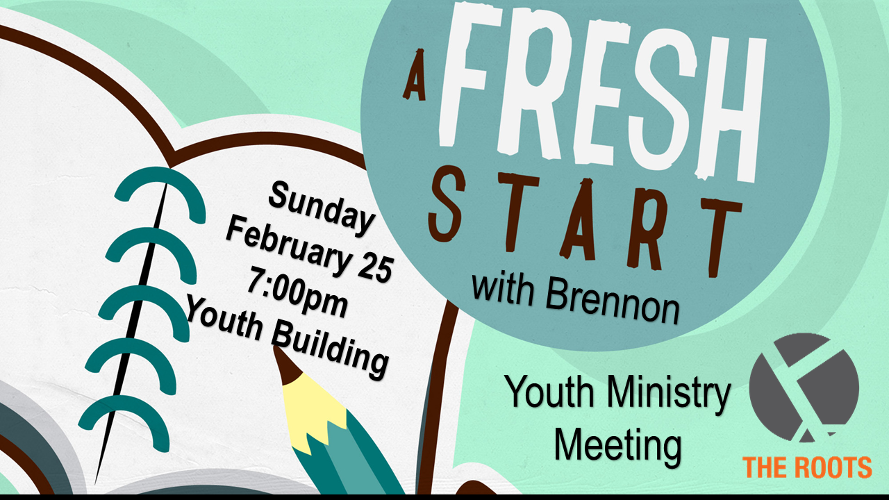 Youth leader meeting feb 25