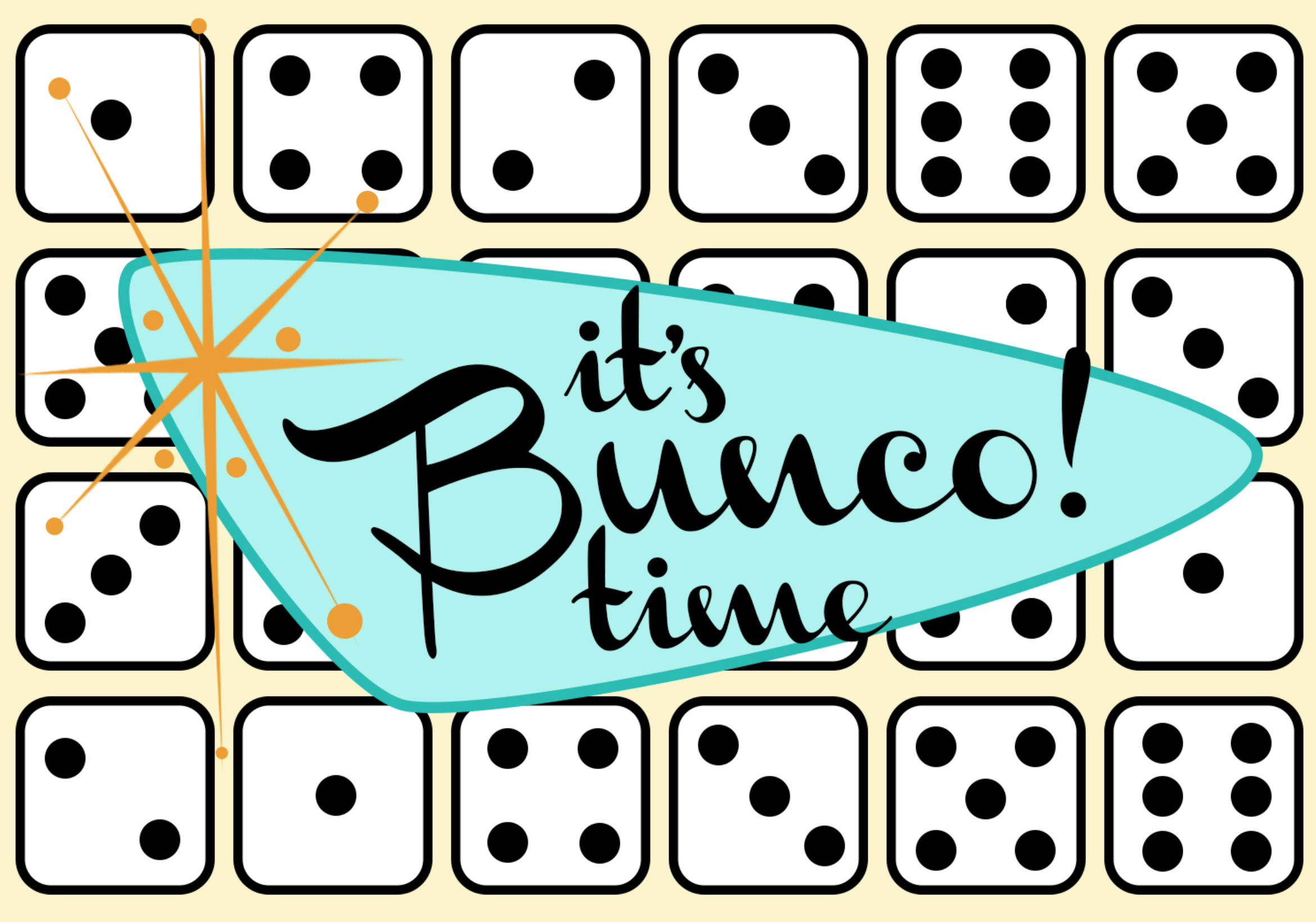 Preschool team bunco party