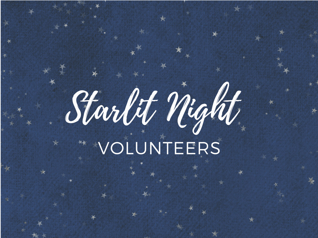 Starlit night volunteer registration