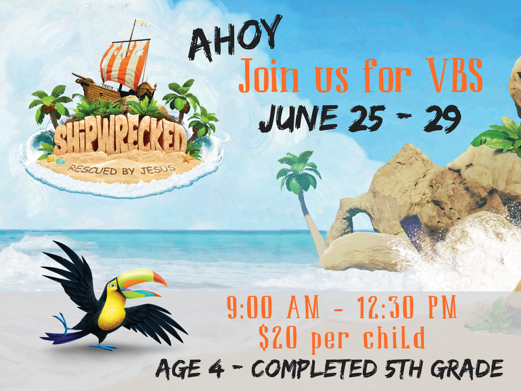 Vbs save the date registration graphic