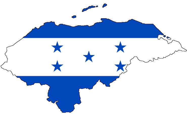 Flag map of honduras