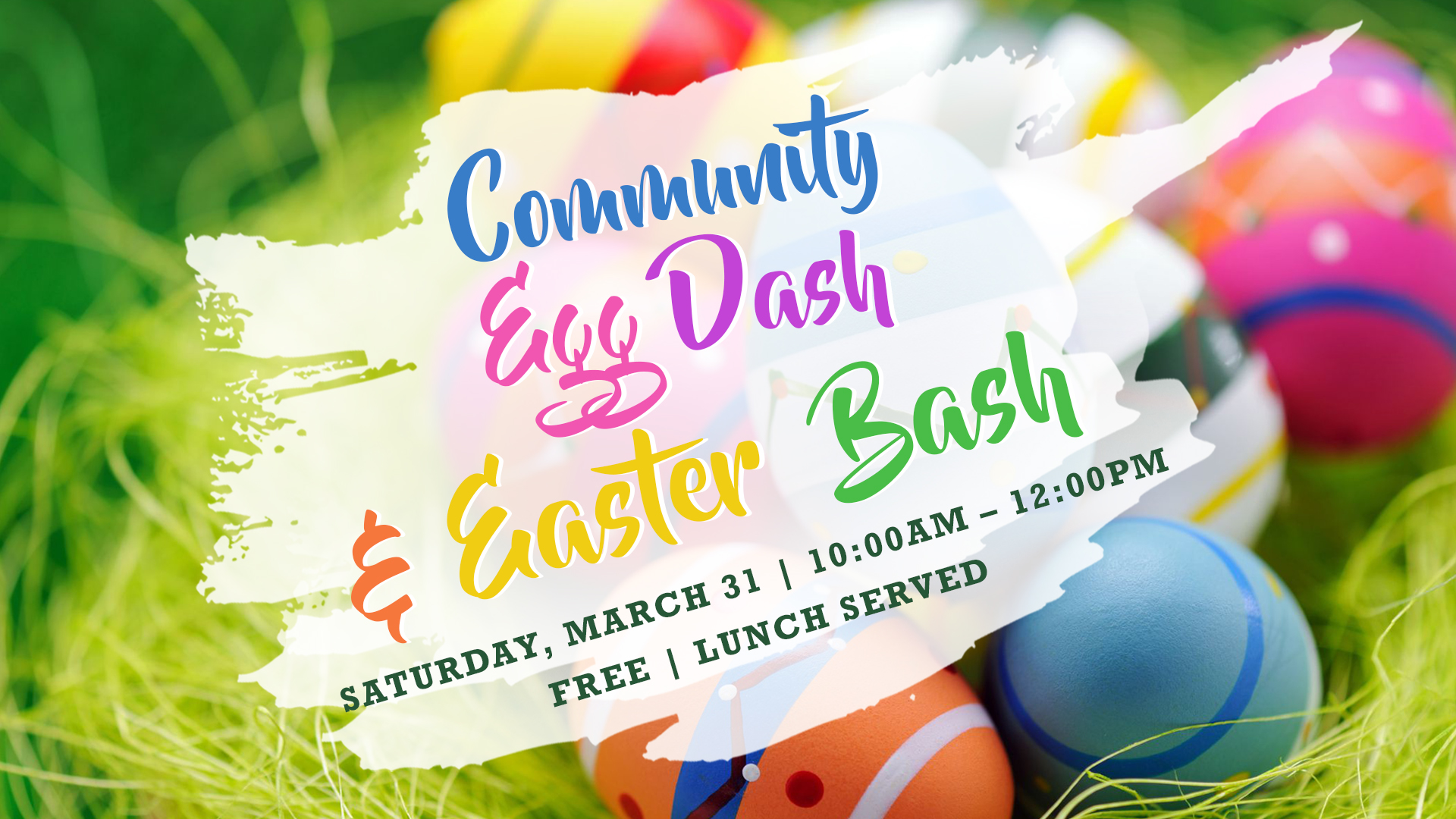Easter bash   slide with details