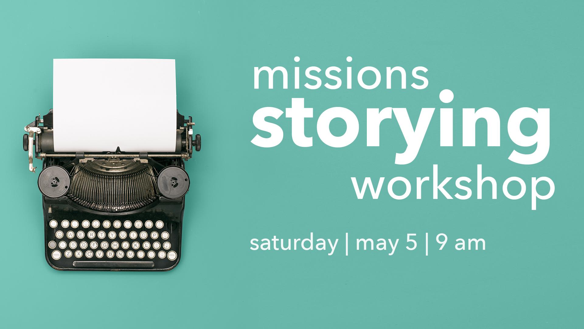 Storying workshop 1