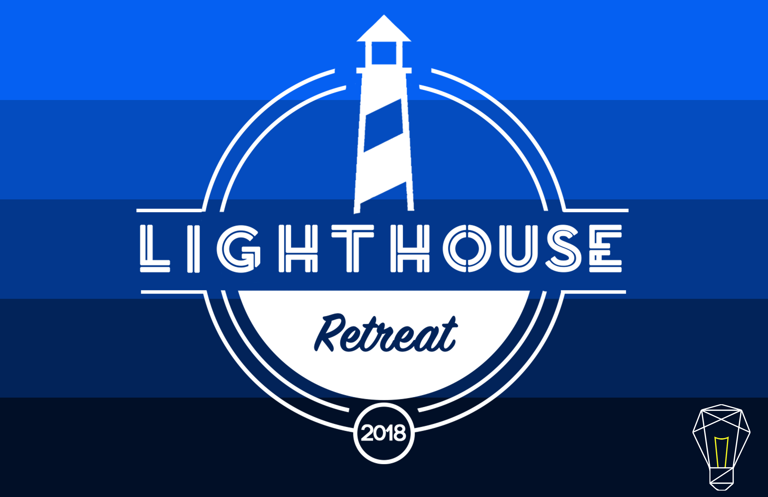 Lighthouse retreat save the date front