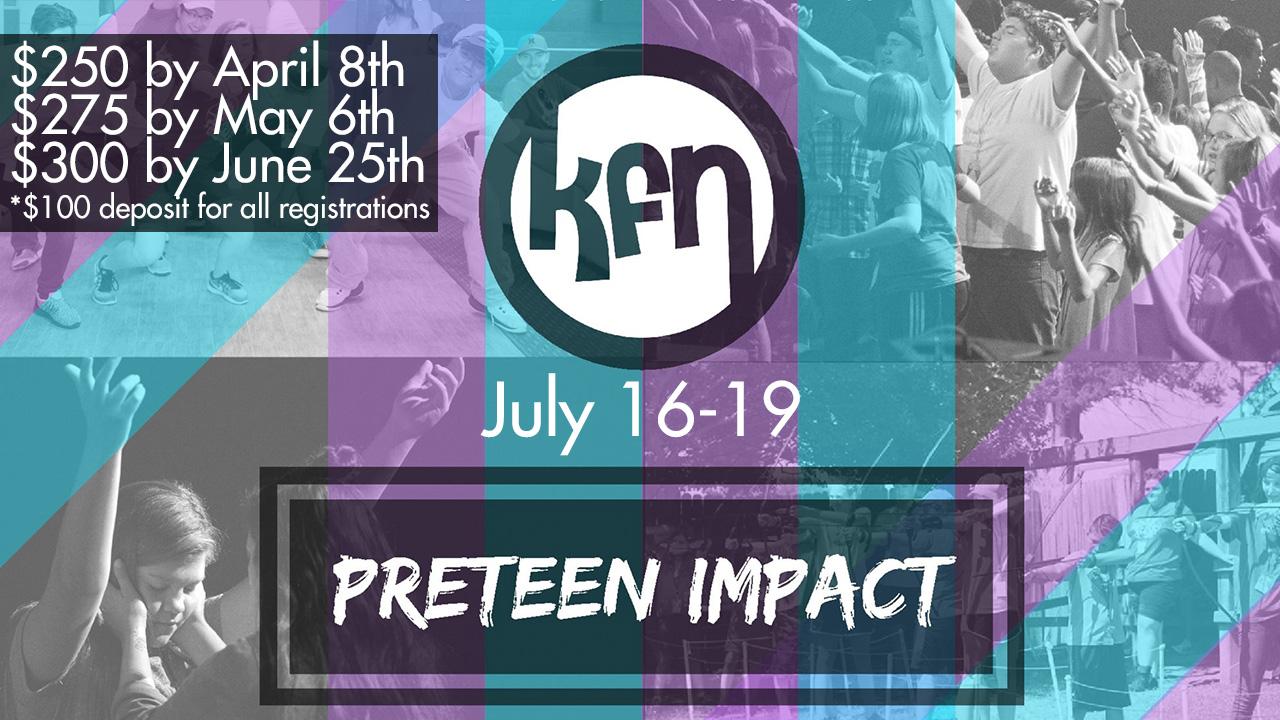 Preteen impact 2018 camp gfx