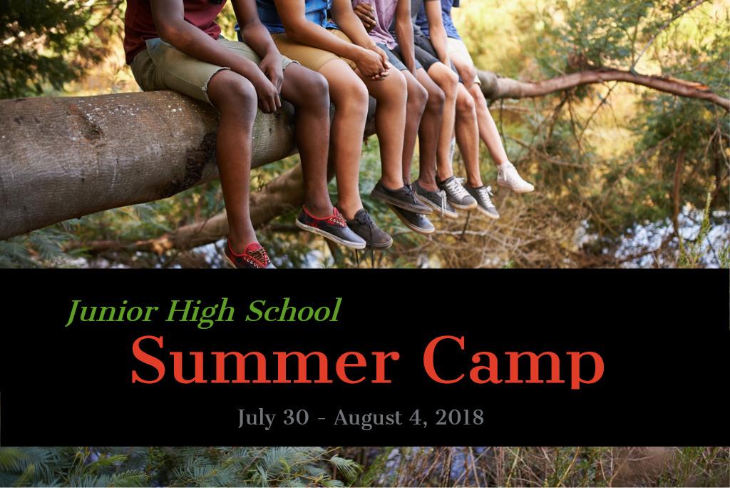 Jr high summer camp 2018