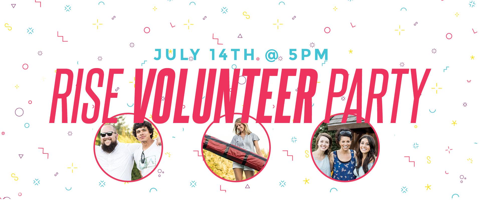 Volunteer party 5pm