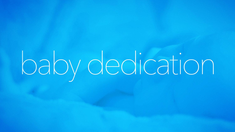 Baby dedication event