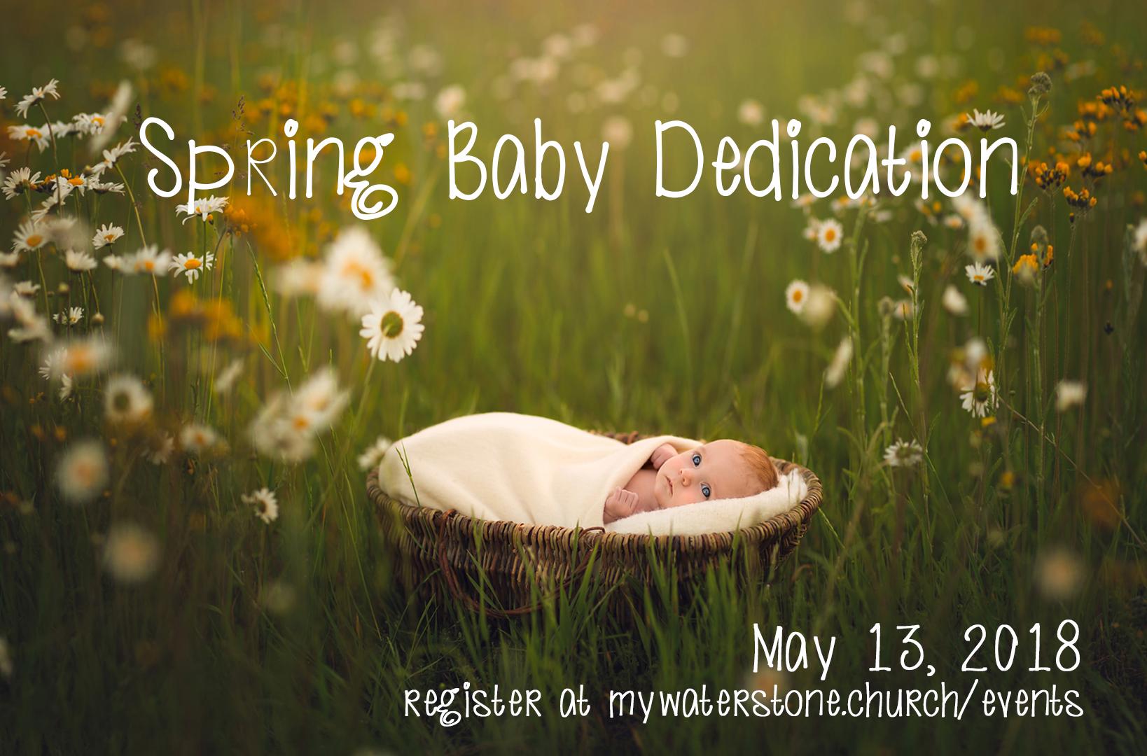 Spring baby dedication 2018 2