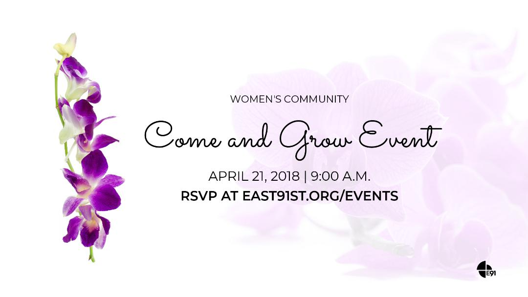 2018 april come and grow event