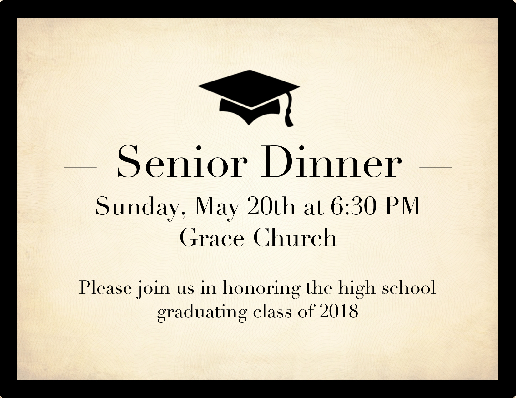 Sr. dinner graphic