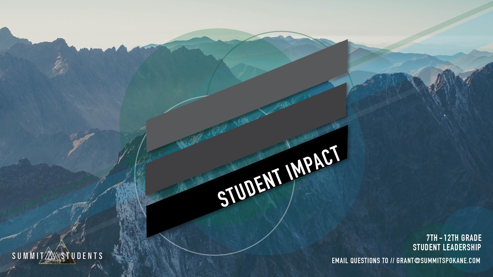 Student impact chapel screen