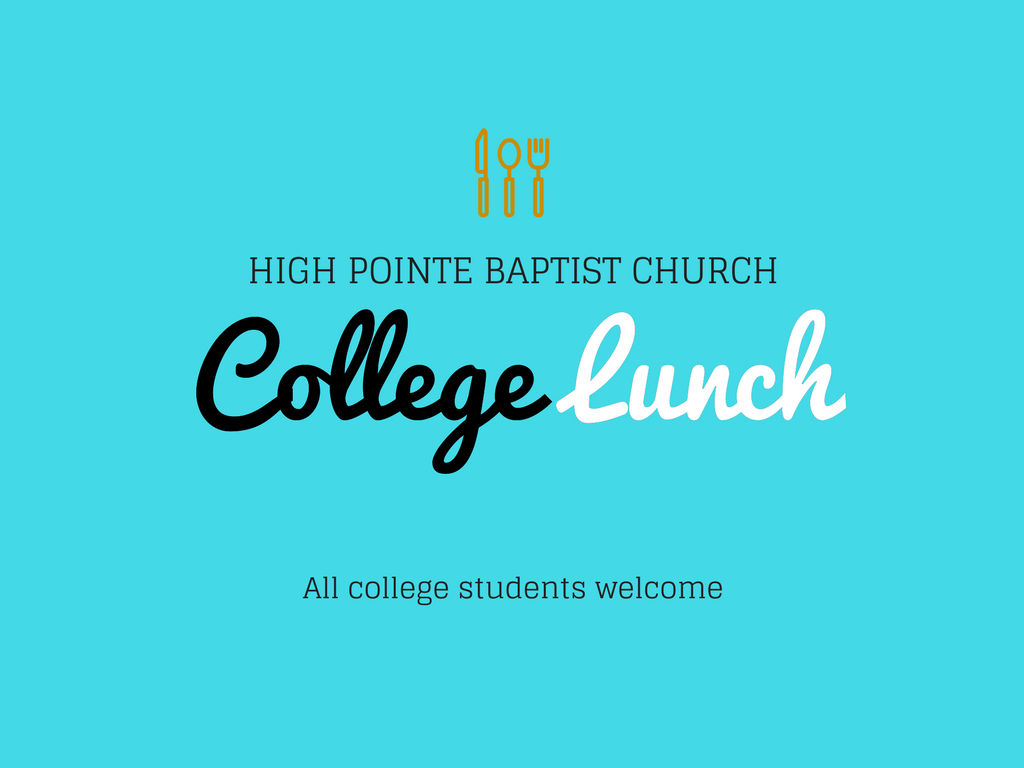 College lunch  pco registration