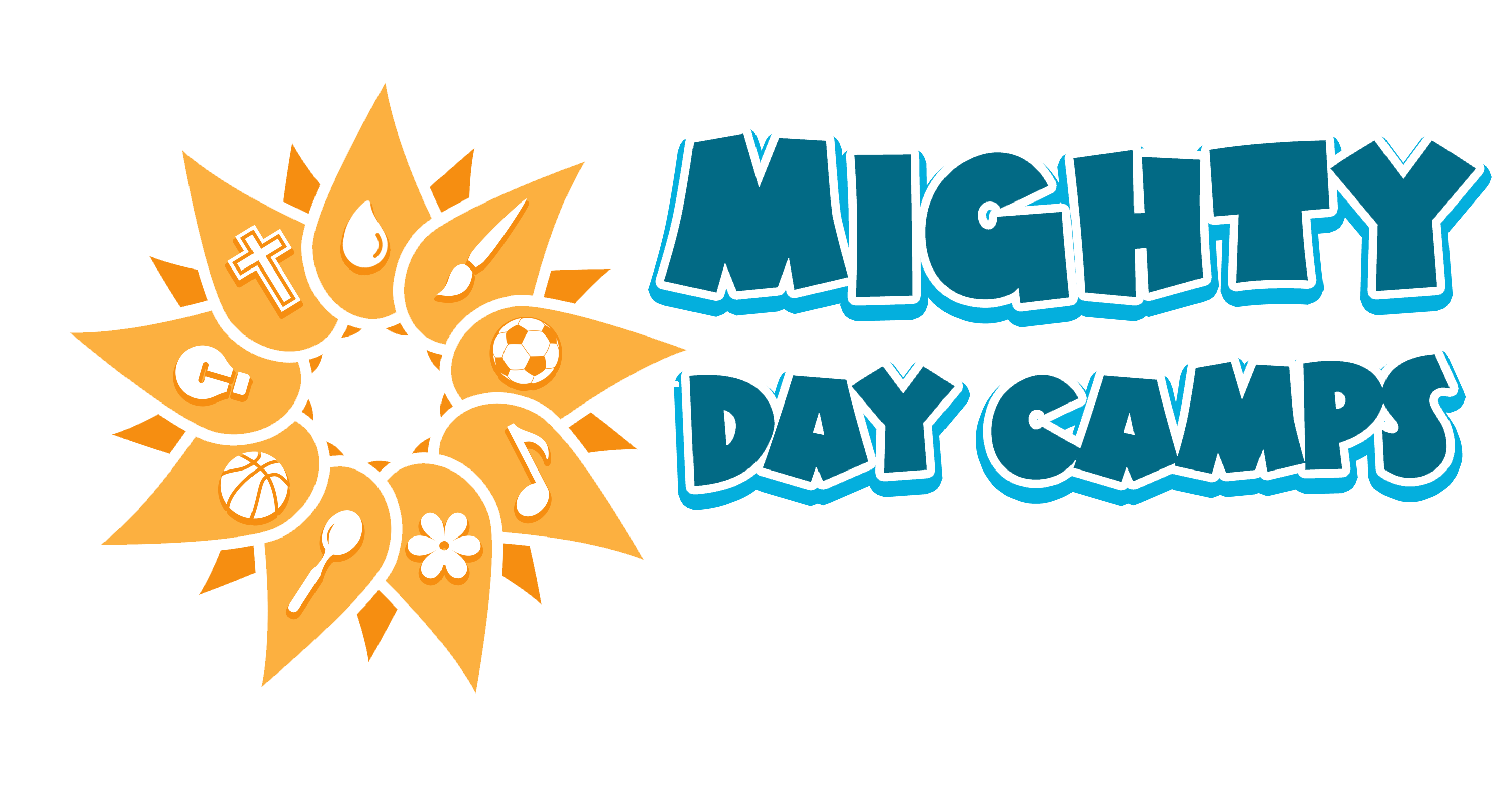 Mighty day camps logo  year removed
