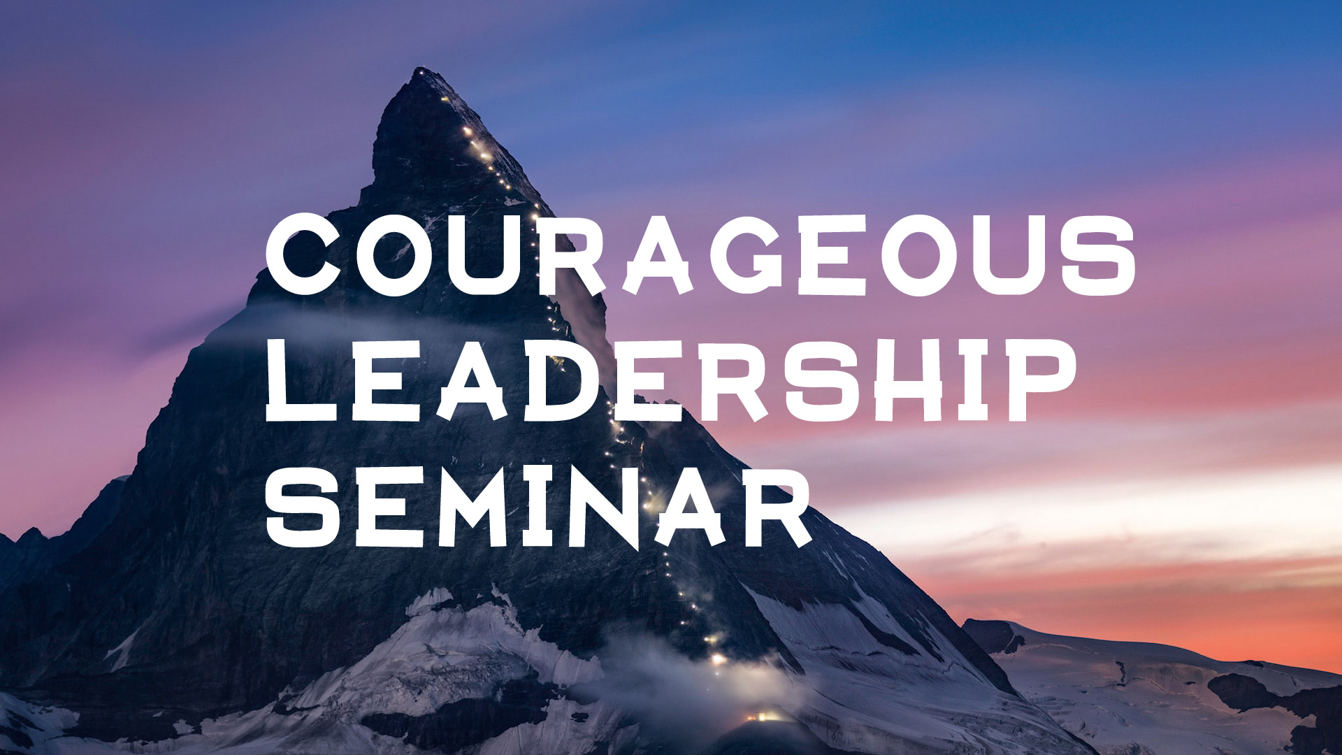 Courageous leadership title