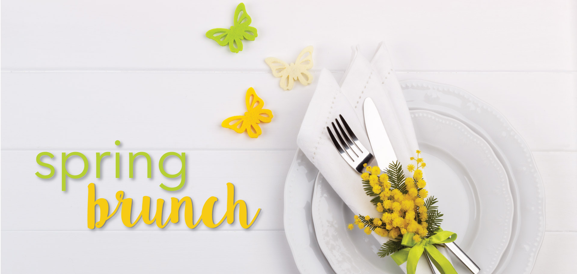 Spring brunch header