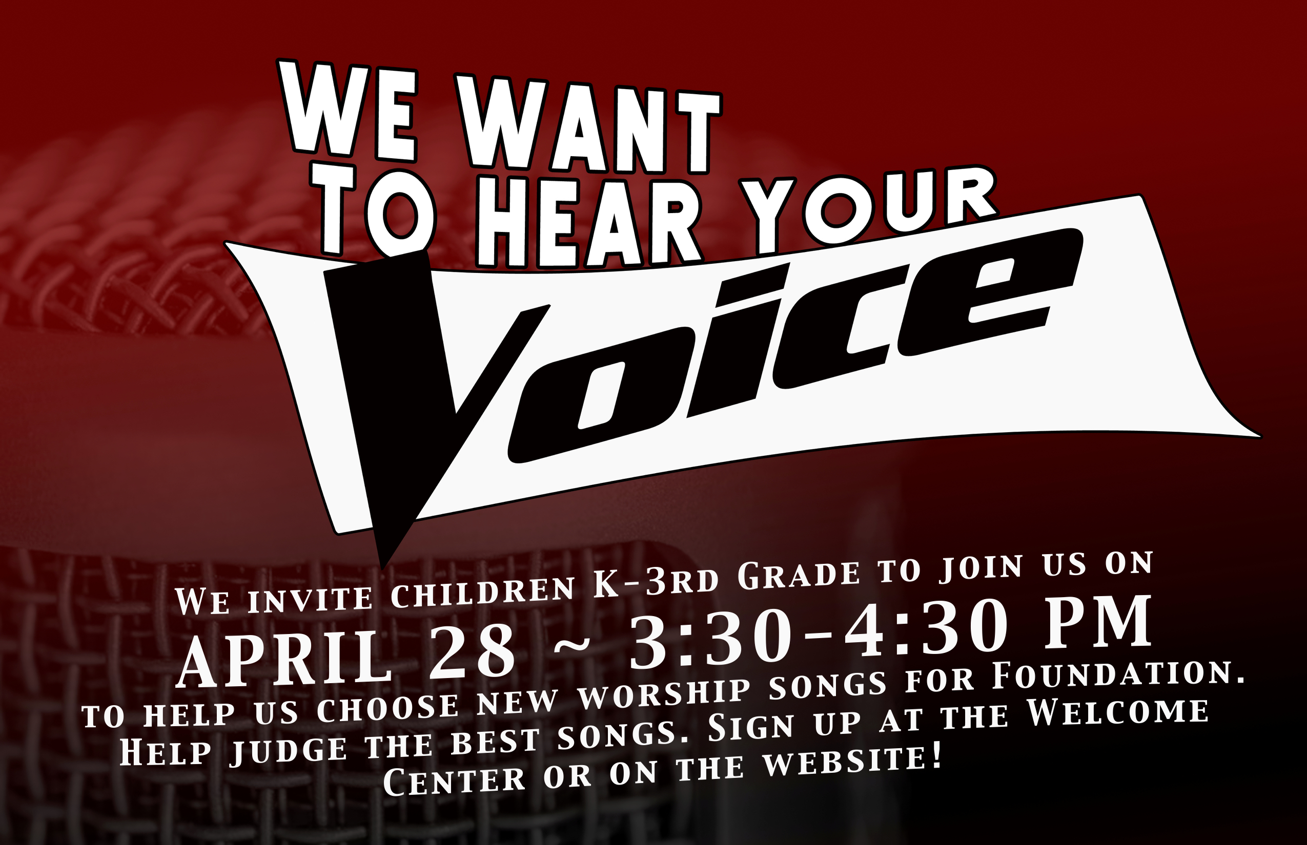 We want to hear your voice