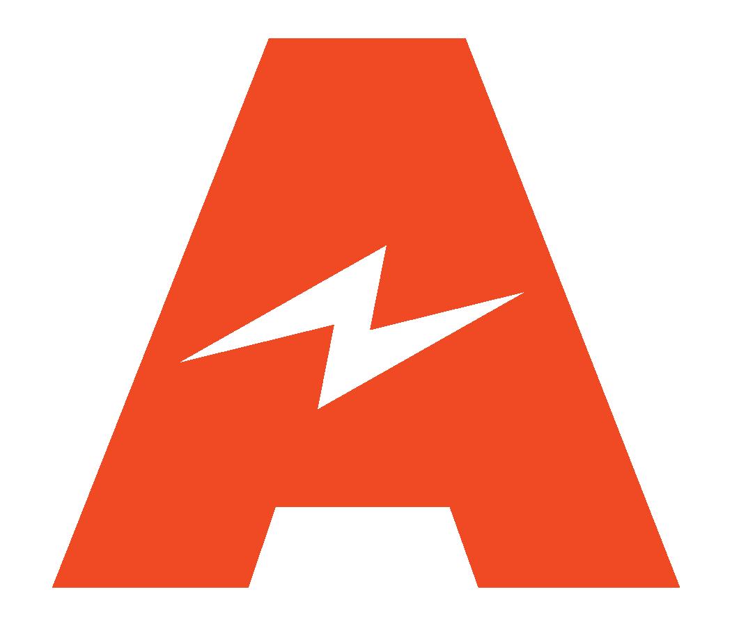 Amped mark logo red rgb