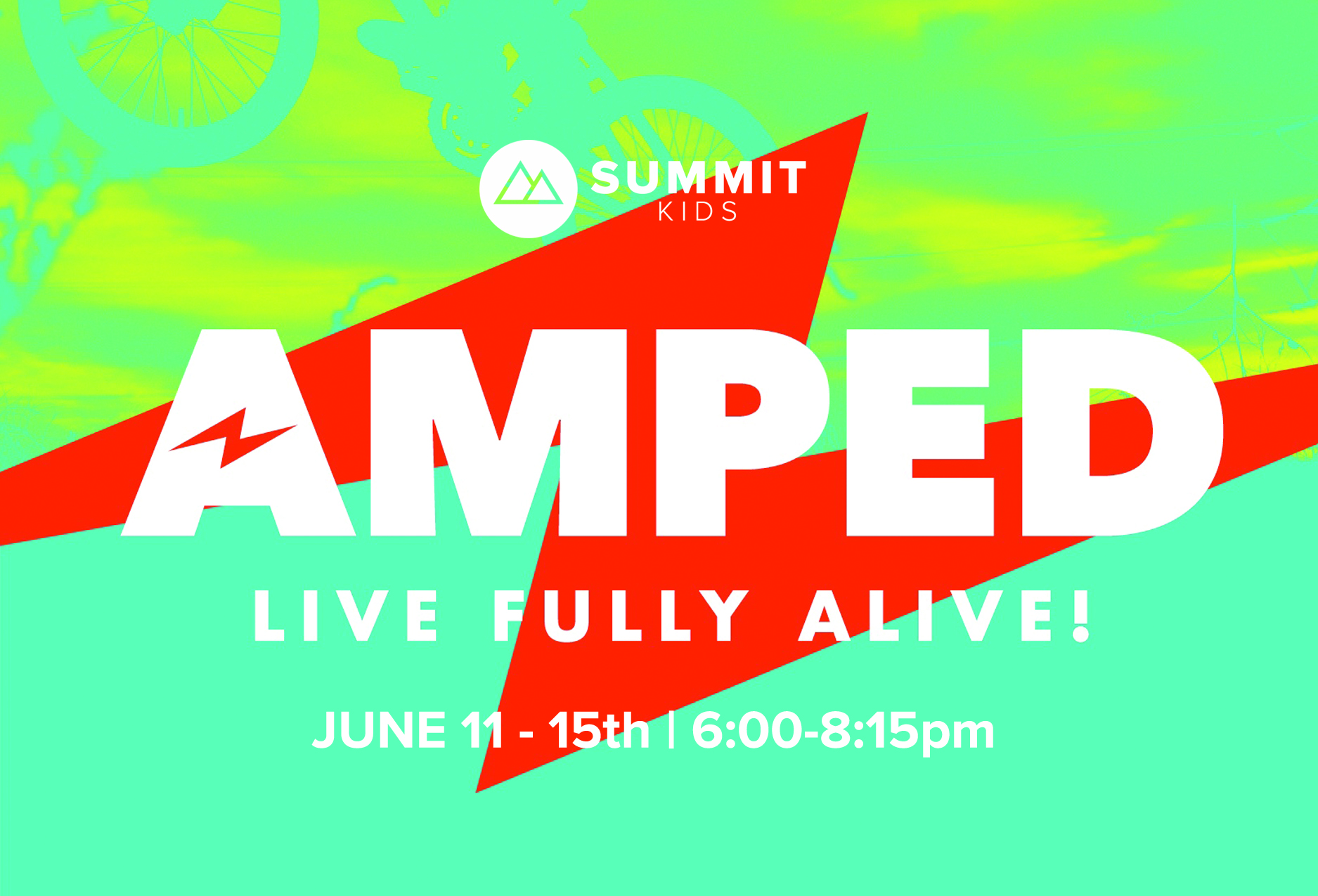 Amped summer xp postcard front