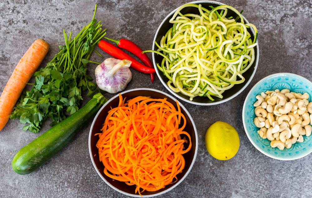 Whole30 meal prep zoodles 1000