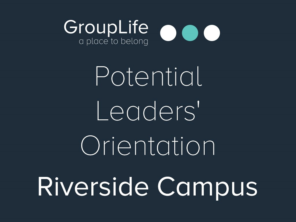 Riverside potential leaders  orientation