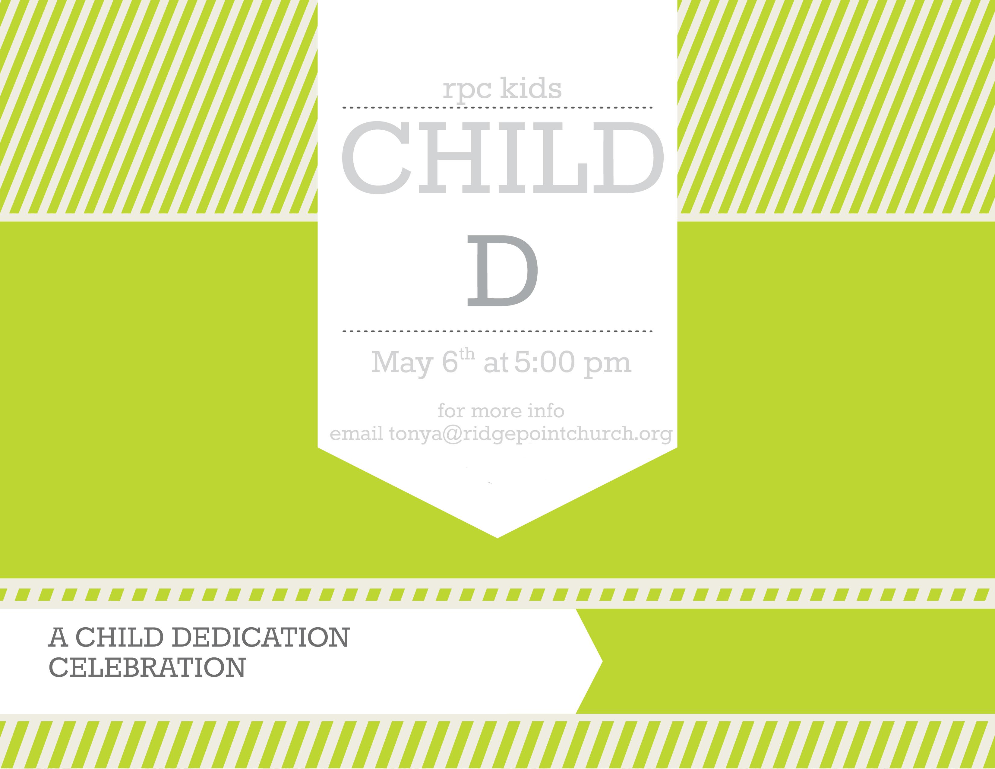 Childd celebration sign