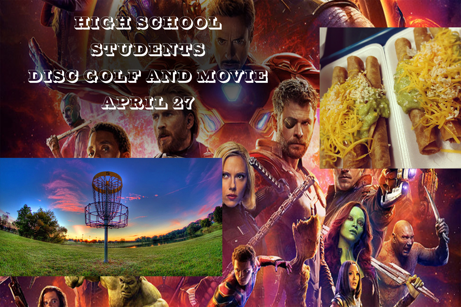 Disc golf and movie graphic
